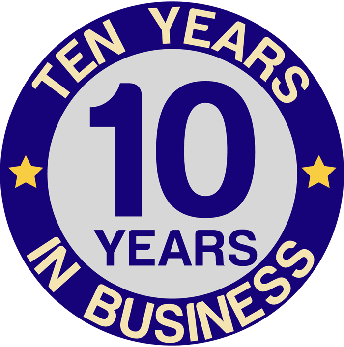ten years in business