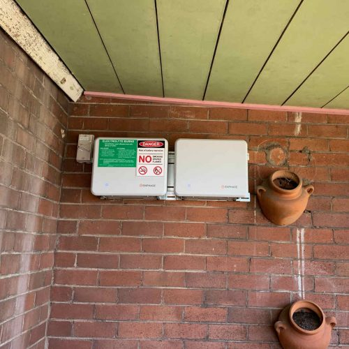 1.2KW Enphase Battery 2 500x500 - Enphase Home Battery Installation at Mayfield