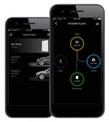 tesla battery app